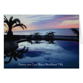 Sonnenaufgang an strandnahem Landhaus Casa-BLANCA Karte