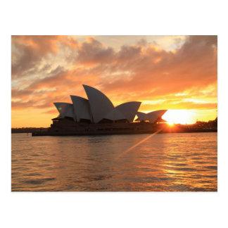 Sonnenaufgang an Sydney-Opernhaus Postkarte