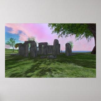 """Sonnenaufgang-Anbetung Stonehenge 16,80"""""""" Plakat"""