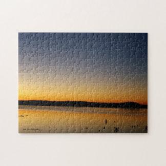Sonnenaufgang auf dem See Puzzle