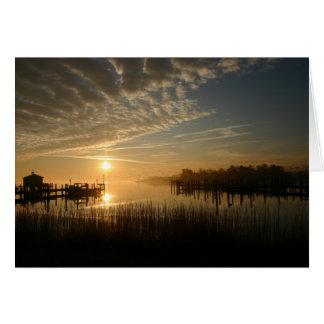 Sonnenaufgang auf dem Wasser Karte