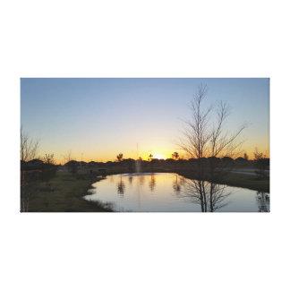 Sonnenaufgang auf Leinwand