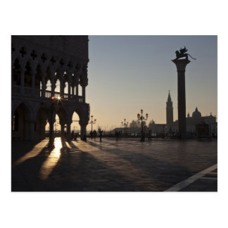 Sonnenaufgang auf Piazza San Marco Postkarte