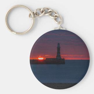 Sonnenaufgang bei Roker Leuchtturm-England Schlüsselanhänger