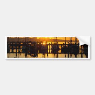 Sonnenaufgang-Boote Autoaufkleber