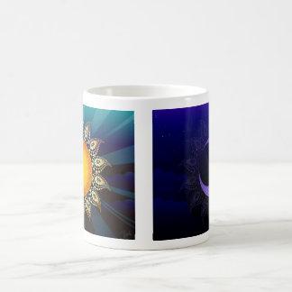 Sonnenaufgang, doppelte mit Seiten versehene Kaffeetasse