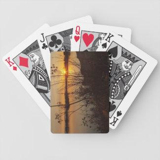 Sonnenaufgang durch den See Bicycle Spielkarten