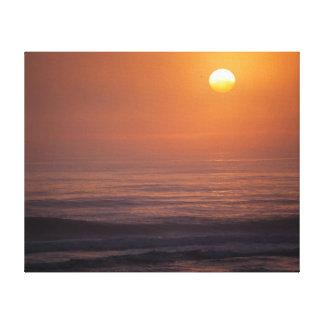 Sonnenaufgang - eingewickelte Leinwand Galerie Gefaltete Leinwand
