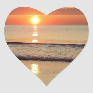 Sonnenaufgang entlang Hampton-Strand-New Hampshire Herz-Aufkleber