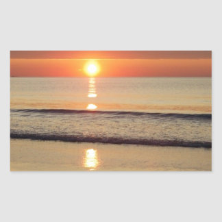 Sonnenaufgang entlang Hampton-Strand-New Hampshire Rechteckiger Aufkleber