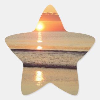 Sonnenaufgang entlang Hampton-Strand-New Hampshire Stern-Aufkleber
