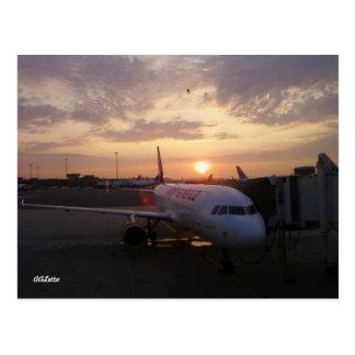 Sonnenaufgang, Flugzeug-Postkarte Postkarte