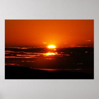 Sonnenaufgang-Foto in Südafrika Poster