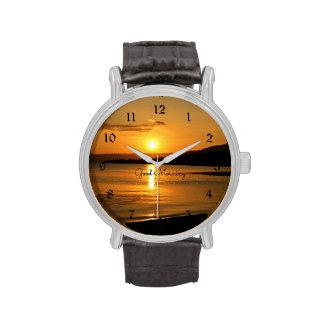Sonnenaufgang - guter Morgen Armbanduhr