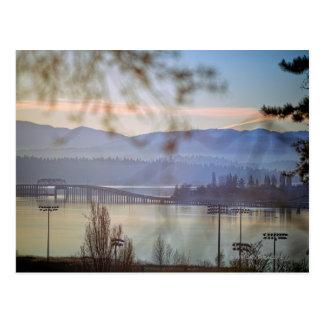 Sonnenaufgang im Winter in Seattle Postkarte