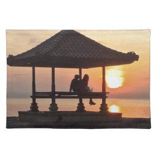 Sonnenaufgang in Bali Stofftischset