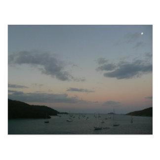Sonnenaufgang in den Jungferninseln St Thomas IV Postkarte