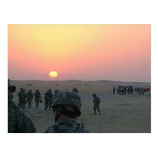 Sonnenaufgang in Kuwait Postkarte
