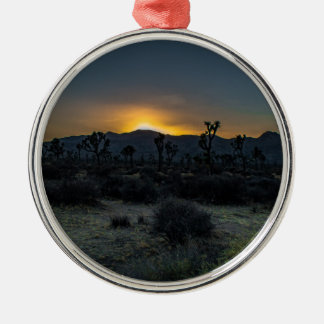 Sonnenaufgang-Joshua-Baum-Nationalpark Silbernes Ornament
