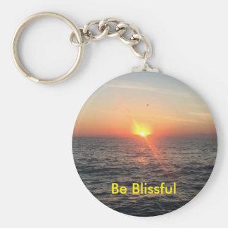 Sonnenaufgang-Knopf Keychain - klein Schlüsselanhänger
