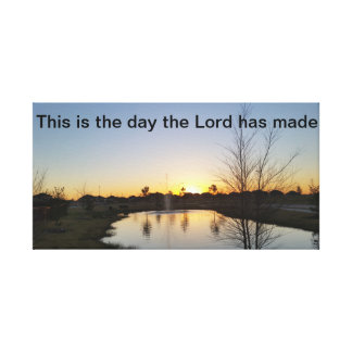 Sonnenaufgang-Leinwand mit Scripture Leinwanddruck