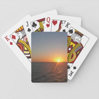 Sonnenaufgang Ozean-Horizont-Meerblick am Meeriii Spielkarten