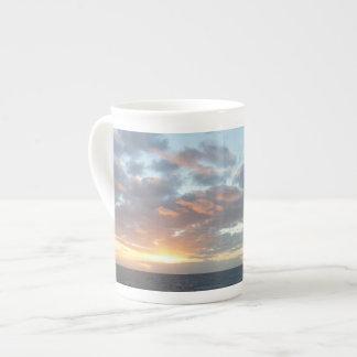 Sonnenaufgang Pastell-Meerblick am Meeri Porzellantasse