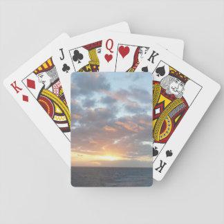 Sonnenaufgang Pastell-Meerblick am Meeri Spielkarten