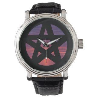 Sonnenaufgang-Pentagramm Uhr