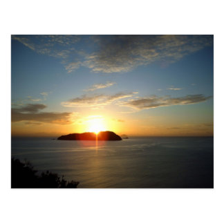 Sonnenaufgang-Postkarten Postkarte