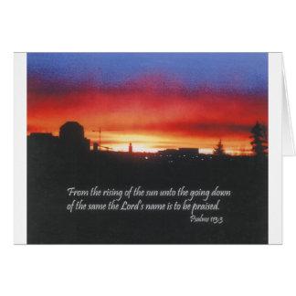 Sonnenaufgang - Psalm-113:3 Karte
