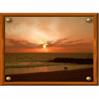 Sonnenaufgang-Rahmen-Foto-Skulptur Photostatue
