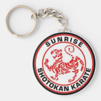 Sonnenaufgang Shotokan Karate-Schlüsselringe Schlüsselanhänger