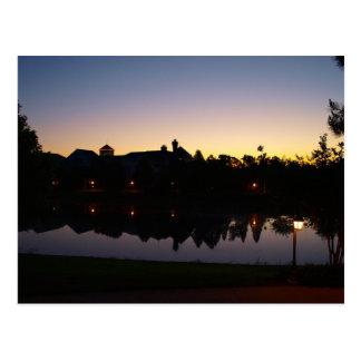 Sonnenaufgang Silouette in Orlando, Florida über Postkarte