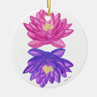 Sonnenaufgang-Sonnenuntergang Lotus Keramik Ornament