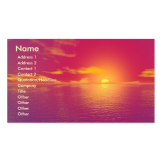 Sonnenaufgang-Sonnenuntergang Visitenkartenvorlagen