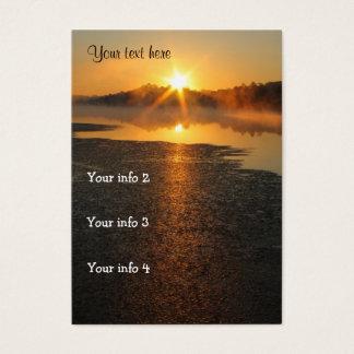 Sonnenaufgang-Sonnenuntergang-Visitenkarte Jumbo-Visitenkarten