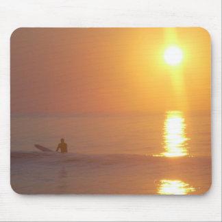 Sonnenaufgang-Surfer-Mausunterlage Mousepad