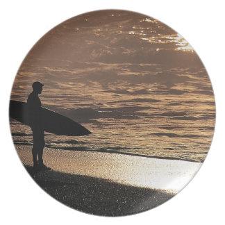 Sonnenaufgang-Surfer Teller