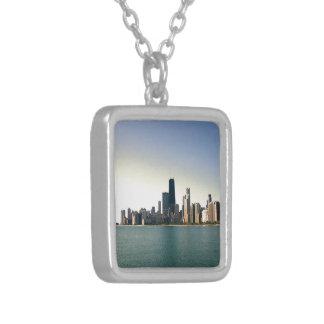 Sonnenaufgang über Chicago Versilberte Kette