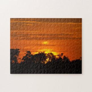 Sonnenaufgang über dem Mara-Puzzlespiel Puzzle
