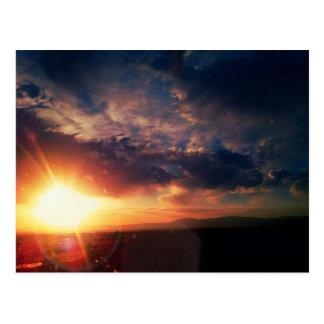 Sonnenaufgang über den Manzano-Bergen Postkarte