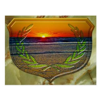 Sonnenaufgang über der Atlantik- u. Postkarte