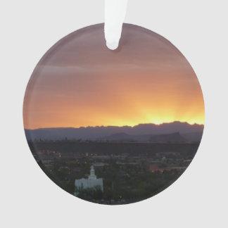 Sonnenaufgang über Landschaft St George Utah Ornament