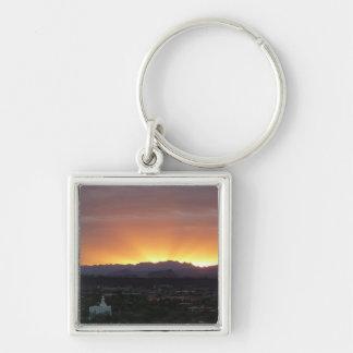 Sonnenaufgang über Landschaft St George Utah Schlüsselanhänger