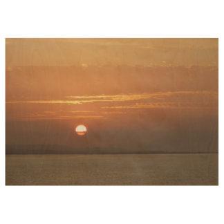 Sonnenaufgang über Meerblick Arubas I Karibisches Holzposter