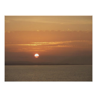 Sonnenaufgang über Meerblick Arubas I Karibisches Poster