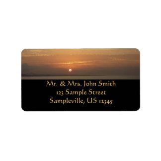 Sonnenaufgang über Meerblick Arubas II Karibisches Adressaufkleber
