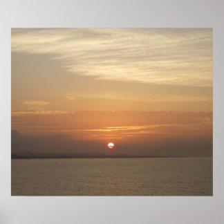 Sonnenaufgang über Meerblick Arubas II Karibisches Poster