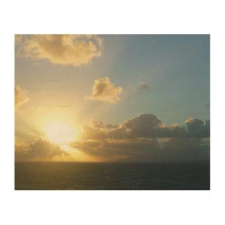 Sonnenaufgang über San Juan II Puerto Rico Holzleinwand